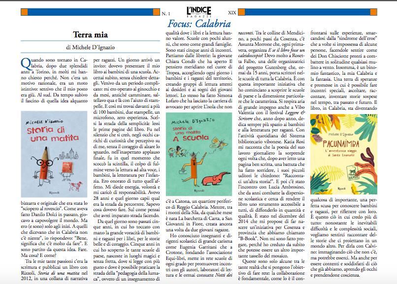 L'indice dei Libri_Focus Calabria (Michele D'Ignazio)