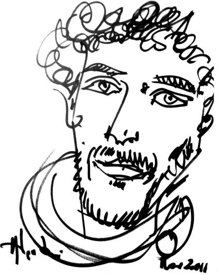 Michele D'Ignazio ritratto dall'artista Nik Spatari