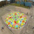 Il Mandala disegnato da Gianluca Salamone e i bambini che hanno partecipato alB-Book