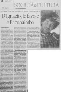 Michele D'Ignazio_Articolo Quotidiano della Calabria