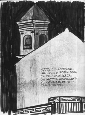 Il borgo di San Nicola illustrato da Rocco Lombardi