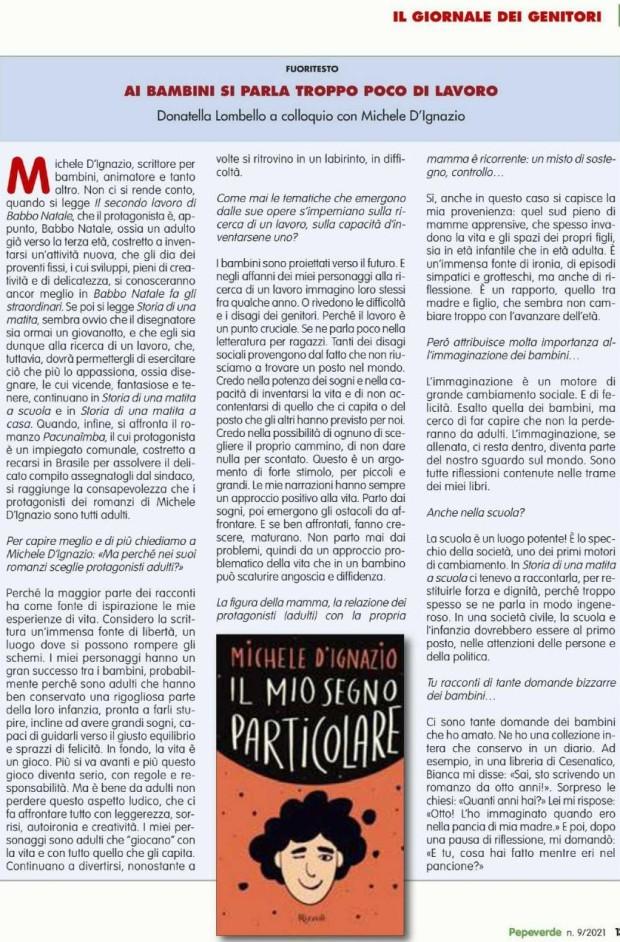 RIVISTA_PEPEVERDE_INTERVISTA. MICHELE D'IGNAZIO - AI BAMBINI SI PARLA TROPPO POCO DI LAVORO_page-0001